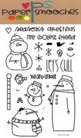 SWANKY SNOWDUDES Clear Stamp Set from Paper Smooches