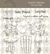 **PREORDER** New! TIN CAN CHAT Clear Stamp Set Sweet P Collection from SugarPea Designs