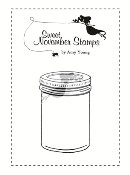 MASON JAR Rubber Stamp Sweet November Mythical Creature Collection from C.C. Designs