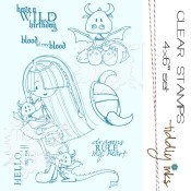 HELLO PET Clear Stamp Set from Tiddly Inks