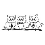 WISE OWLS Stickable Rubber Stamp from Great Impressions