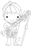 KAI FROM HAWAII Rubber Stamp World Kids Collection by Fhiona Designs from Your Next Stamp