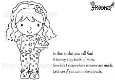 TOOTH FAIRY ELLIE Rubber Stamp Set  Fhiona Designs Collection from Your Next Stamp