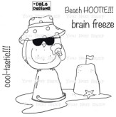 COOL BEACH OWL Rubber Stamp Set Dale Designs Collection from Your Next Stamp