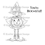 YOU'RE BOO-TIFUL Rubber Stamp by Cheryl Alger from Kraftin Kimmie Stamps