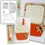 CUPCAKE KEEPER Card Keepers Rubber Stamp Set from Art Impressions