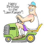 THE LAWN RANGER Rubber Stamp Set AI People Collection from Art Impressions