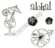 ALOHA ACCESSORIES Rubber Stamp Set Fhiona Designs Collection from Your Next Stamp
