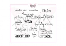 HEART-Y SAYINGS Rubber Stamp Set AmyR Collection from C.C. Designs