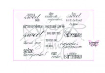SWEET SENTIMENTS Rubber Stamp Set AmyR Collection from C.C. Designs