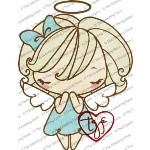 ANGEL ANYA Rubber Stamp Anya & Ian Collection from The Greeting Farm TGF Stamps