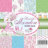 ANNABELLE'S MEADOW PAPER PACK 6x6 Scrapbook Patterned Paper from Wild Rose Studio