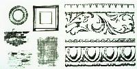ARCHITECTURAL TRIMS Screen Prints Clear Stamp Set from Tattered Angels