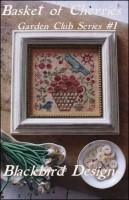 Garden Club Series Part 1 - BASKET OF CHERRIES - Counted Cross Stitch Pattern from Blackbird Designs