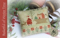 BASKETFUL OF WINTER TIME Cross Stitch Pattern by With Thy Needle and Thread