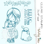 BEACH BABE Clear Stamp Set from Tiddly Inks
