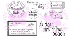 BEACH LOGOS Rubber Stamp Set from C.C. Designs
