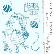 HAPPY BEE DAY Clear Stamp Set from Tiddly Inks