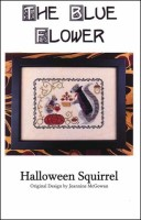 HALLOWEEN SQUIRREL Counted Cross Stitch Pattern from The Blue Flower