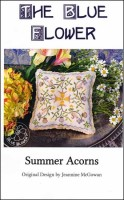 SUMMER ACORNS Counted Cross Stitch Pattern from The Blue Flower