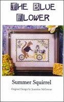 SUMMER SQUIRREL Counted Cross Stitch Pattern from The Blue Flower