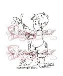 BIG SPLASH Rubber Stamp Elisabeth Bell Designs from Sweet Pea Stamps