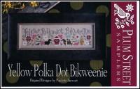 YELLOW POLKA DOT BIKWEENIE Cross Stitch Pattern from Plum Street Samplers