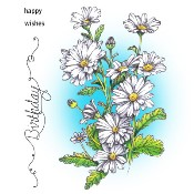 BIRTHDAY DAISIES Rubber Stamp Set from Make It Crafty