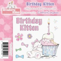 BIRTHDAY KITTEN Strawberry Kisses Collection from Crafter's Companion