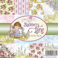 BLACKBERRY LANE 6x6 Scrapbook Patterned Paper Pack from Wild Rose Studio
