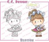 BLOSSOM Rubber Stamp from Pollycraft