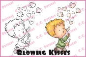 BLOWING KISSES Rubber Stamp Roberto's Rascals Collection from C.C. Designs