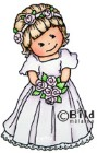 BRIDESMAID Rubber Stamp from Bildmalarna