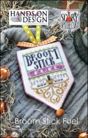 Scary Apothecary Series - BROOM STICK FUEL - Cross Stitch Pattern by Hands On Design