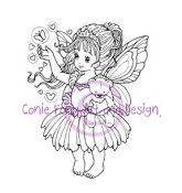 BUTTERFLY PRINCESS Rubber Stamp Conie Fong Collection from Sweet Pea Stamps