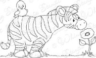 SPRING ZEBRA Rubber Stamp Crissy Armstrong Collection from Whimsy Stamps
