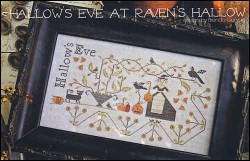 HALLOW'S EVE AT RAVEN'S HALLOW Cross Stitch Pattern by With Thy Needle & Thread