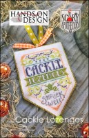 Scary Apothecary Series - CACKLE LOZENGES - Cross Stitch Pattern by Hands On Design