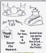 CAFE SHOPPE Stamp Set Shoppe Windows Collection from Art Impressions