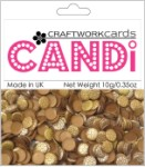 Candi Dots Embellishments METALLIQUE COPPER from Craftwork Cards