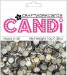 Candi Dots Embellishments METALLIQUE STEEL from Craftwork Cards