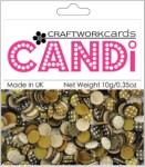Candi Dots Embellishments COFFEE BEAN from Craftwork Cards