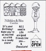 CANDY SHOPPE Stamp Set Shoppe Windows Collection from Art Impressions