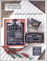 Farm House Chalk Series - CARROTS & COTTONTAILS FARM Cross Stitch Pattern from Hands On Design