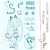 **REORDER** CAT FEVER Clear Stamp Set from Tiddly Inks
