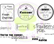 BERRY LOGOS Rubber Stamp Set from C.C. Designs