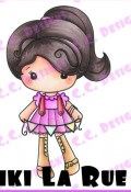 New! BANNER KIKI LA RUE Rubber Stamp from C.C. Designs