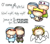 NATIVITY Rubber Stamp Meoples Collection from C.C. Designs