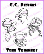 TREE TRIMMERS Rubber Stamp Meoples Collection from C.C. Designs