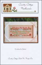 COOKIES FOR SANTA Cross Stitch Pattern from Country Cottage Needleworks